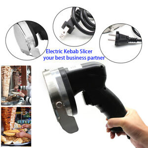 80w Electric Shawarma Gyro Doner Meat Knife Kebab Slicer Cutter Maker Tool