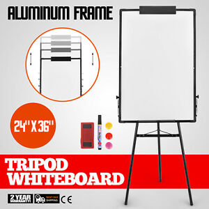 Portable 24 x36 Magnetic Whiteboard Dry Erase Board Aluminum Tripod Easel Stand