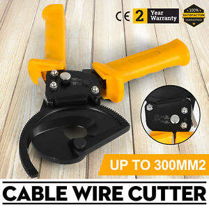 Heavy Duty Ratchet Cable Cutter Cut Up To 300mm Ratcheting Wire Cut Hand Tool