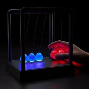 Colorful Newton s Cradle Balance Ball Led Night Light Physics Atmosphere Lamp