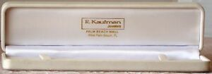 New White Hinged Bracelet Gift Box By R Kaufman Florida Palm Beach Mall