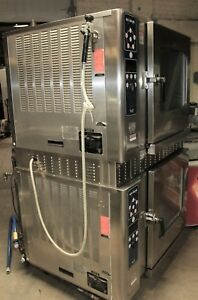 Used Alto Shaam 7 14mlg Double Stack Natual Gas Combitherm Steamer Combi Oven