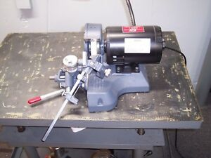 Lisle Series 9100 1 8 To 1 1 4 115v 1ph Table Top Drill Grinder Excellent Cond