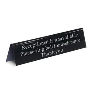 Mess Ring Bell Sign Away From Desk Receptionist Is Unavailable office For