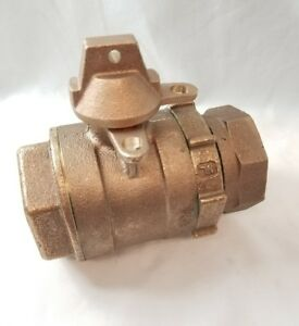 2 Comp X 2 Female Threaded Bronze Ball Valve Curb Stop Valve 2 Mueller