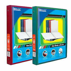 Bazic 1 2 Inch 3 ring View Binder With 2 pockets case Pack Of 24 Consist 12