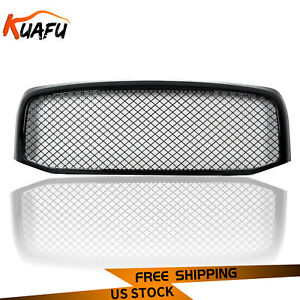 Fit 06 09 Dodge Ram 1500 2500 3500 Abs Front Hood Bumper Mesh Grille Grill Shell