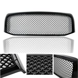 Fit 2006 2009 Dodge Ram 1500 2500 3500 Mesh Style Front Hood Grille Glossy Black