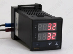 1 16 Din Dual Channel Temperature Meter For Brew Panel