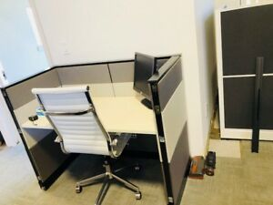 New And Used Office Furniture In Grey white Telemarketing Cubicles For Sale Etc