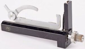 Carl Zeiss Microscope Movable Slide Attachable Specimen Caliper Mechanical Stage