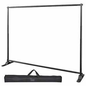 10 Telescopic Step And Repeat Banner Backdrop Stand Adjustable Photo Display