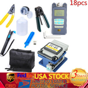 Fiber Optic Ftth Tool Kit W Fc 6s Fiber Cleaver Optical Power Meter Finder