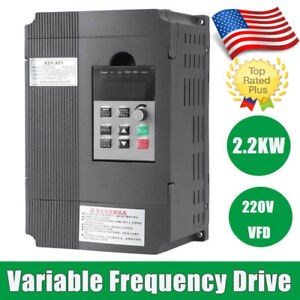 2 2kw 3hp Vfd 12a 220v Single Phase Speed Variable Frequency Drive Inverter Us