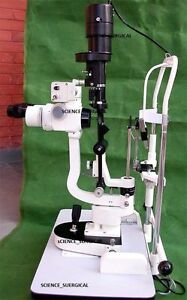 2 X Slit Lamp With Camera In 5 Step medical ophthalmology Equipments Mars22