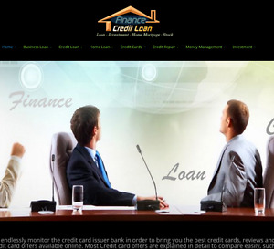 Loan Credit Cards Finance Mortgage Debt And Investment Turnkey Website