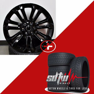 26 2018 Style Gloss Black Wheels W Tires Fits Chevy Gmc Tahoe Yukon Sierra