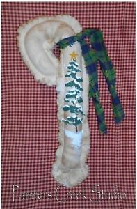 Christmas Tree Candy Cane Hp Ornie Folk Art Primitive Country Christmas