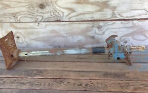 Vintage Auto Blue Bumper Jack With Base