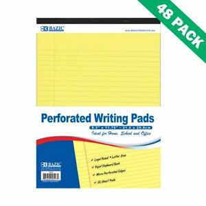Write Pad Letter Ruled Canary Yellow Lined Writing Pads Set Of 48
