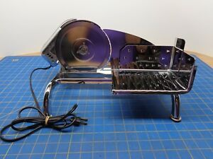 Vtg Rival Chrome Electric Food meat cheese Slicer W pusher Model 1101e 3 Euc