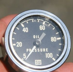 Stewart Warner 2 1 16 Oil Pressure Gauge Vintage Rear Light Design