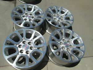 18 Gmc 1500 Sierra Factory Oem Wheels Rims Wheels