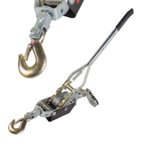 usa 4ton 8 000lb Winch Puller Hand Puller Come Along Hoist Ratcheting Crane