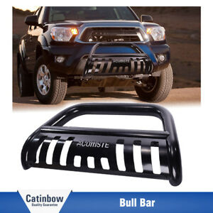 Black Bull Bar Bumper Grill Grille Guard Carbon Steel For 2005 15 Toyota Tacoma