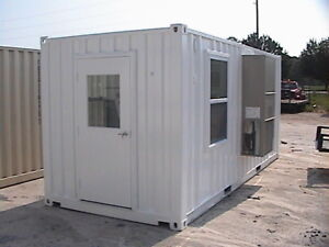 20 Container Office With 1 Man Door 2 Windows Long Beach California