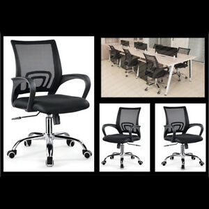 New Mesh Office Chair Computer Middle Back Task Swivel Seat Ergonomic W Armrest