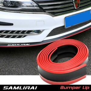 Samurai 8ft Car Front Bumper Body Protection Lip Splitter Chin Spoiler Kit Trim