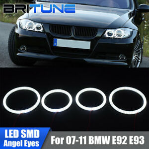 Smd Led Angel Eyes Halo Rings For Bmw E92 E93 3 Series M3 Coupe Headlight Drl