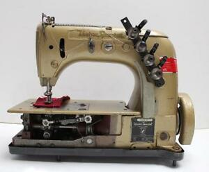 Union Special 51400bp Chainstitch 2 needle 3 16 Gauge Industrial Sewing Machine