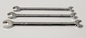 Snap On Tools Sae Open End Speed Chrome Wrench Set Srs14 Srs16 Srs18