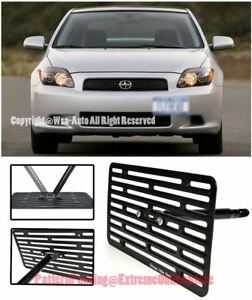 Eos Full Sized Front Bumper Tow Hook License Plate Bracket For 05 10 Scion Tc