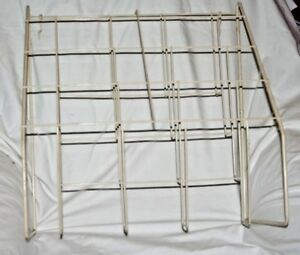 18 X 18 5 Off White Coated Wire Pamphlet Rack With Hooks For Peg Board