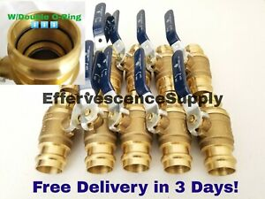 lot Of 10 1 Propress Brass Ball Valves Press Brass Ball Valve Lead Free