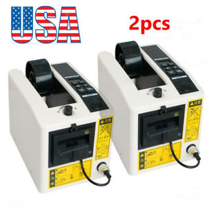 2pcs Automatic Tape Dispensers Adhesive Tape Cutter Packaging Machine us Ship