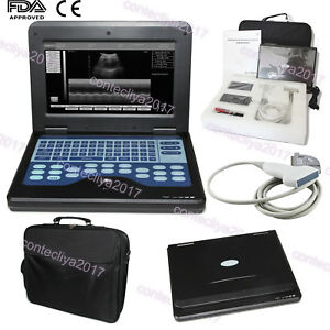Portable Ultrasound Scanner Laptop Machine 7 5mhz Linear Probe Diagnostic System
