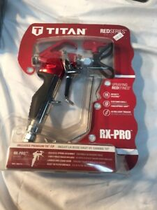 Titan Rx pro Airless Spray Gun Red Series W Premium Tr1 Tip