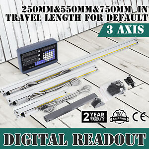 3 Axis Digital Readout Dro W High Precision Linear Scale Encoder Milling Lathe