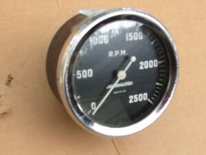Vintage Stewart Warner 2500 Rpm Tachometer Early Motorcycle Truck Industrial