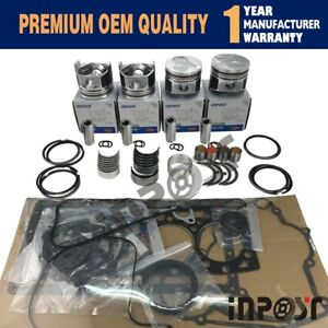 V1505 New Overhaul Rebuild Kit For Kubota Engine Bobcat