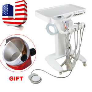 Usa Dental Delivery Unit Portable Mobile Cart Unit Lab Equipment Free Gift