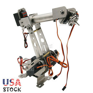 6dof Robot Mechanical Arm Arm Clamp servos Diy Kit For Robot Car Arduino Usa