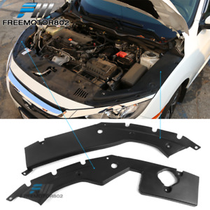 Fits 16 18 Honda Civic 10th X Gen Engine Bay Side Panel Covers Long Version