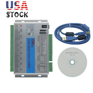 Usb Mach4 Cnc 6 Axis Motion Control Card Breakout Board For Machine Centre Usa