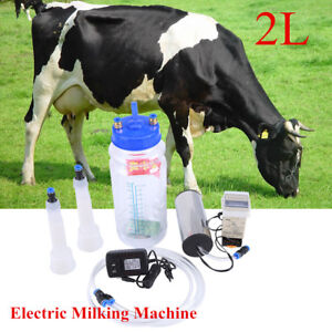 Portable Electric Milking Machine Farm Cow Sheep Goat Vacuum Milking Tools Set