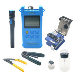 Fiber Optic Ftth Tool Kit Fc 6s Fiber Cleaver Power Meter Visual Finder Usa
